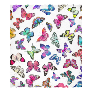 Couture Butterflies Chenille Rug