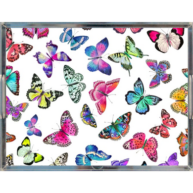Couture Butterflies Acrylic Tray