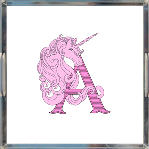 Unicorn Monogram Acrylic Tray