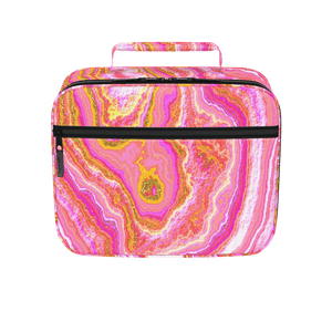 Hot Pink & Gold Geode Lunchbox