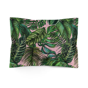 Palm Leaf Blush Everyday Pillow Sham