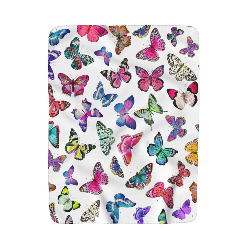 Couture Butterflies Fleece Sherpa Blanket