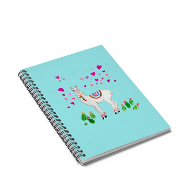All Love Llama Aqua Spiral Notebook - Ruled Line