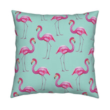 Aqua Flamingos LUXE Knife Edge Toss Pillow