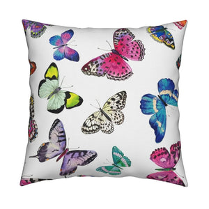 Couture Butterflies LUXE Knife Edge Toss Pillow