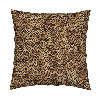 Leopard LUXE Knife Edge Toss Pillow