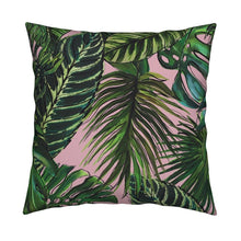 Palm Leaf Blush LUXE Knife Edge Toss Pillow