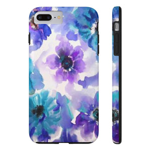 Blue & Purple Watercolor Anemones Case Mate Tough Phone Case