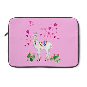All Love Llama Pink Laptop Sleeve