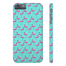 Aqua Flamingos Case Mate Slim Phone Case