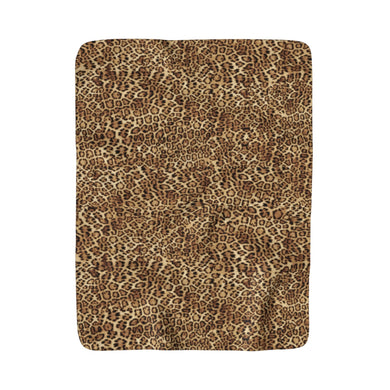 Leopard Fleece Sherpa Blanket