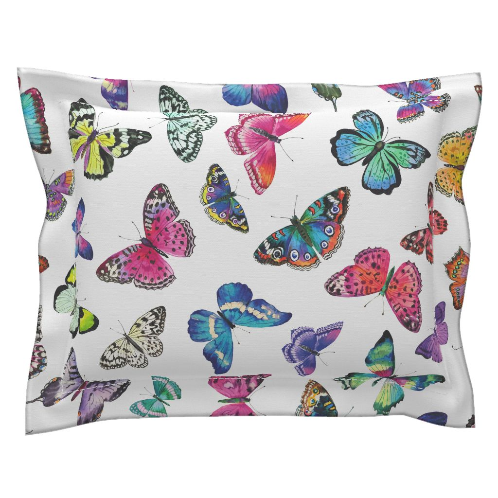 Couture Butterflies LUXE Flanged Edge Pillow Sham