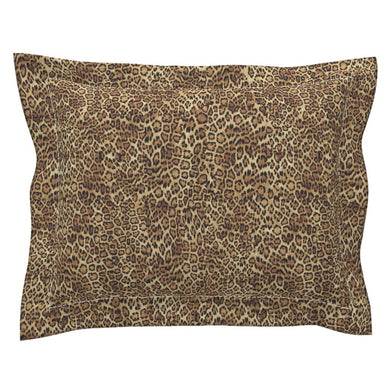 Leopard Flanged Edge LUXE Pillow Sham