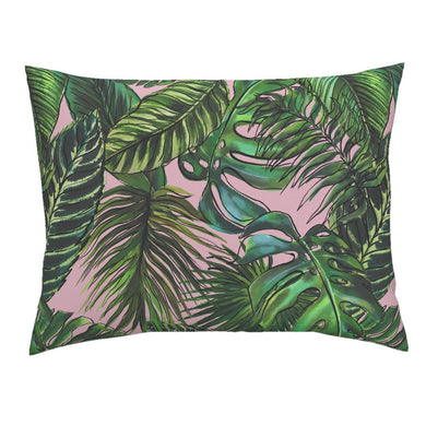 Palm Leaf Blush LUXE Knife Edge Campine Pillow Sham