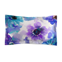 Blue & Purple Watercolor Anemones Everyday Pillow Sham