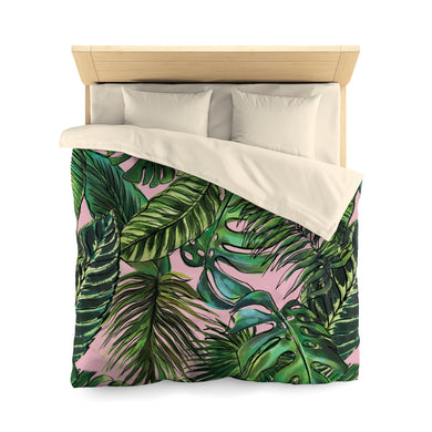 Palm Leaf Blush Everyday Duvet Cover