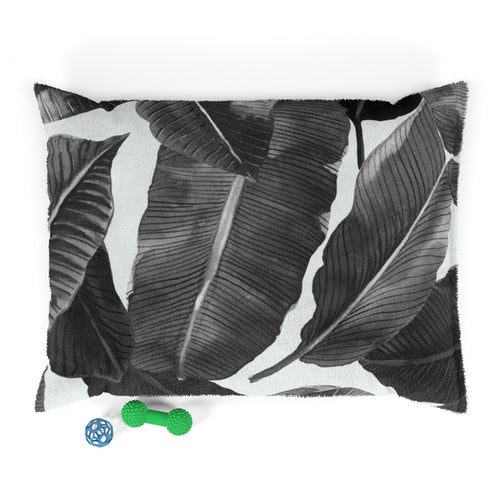 Black & White Palms Pet Bed