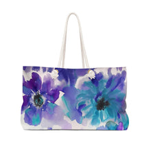 Blue and Purple Watercolor Anemones Beach & Pool Tote Bag