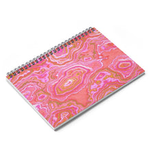 Hot Pink & Gold Geode Spiral Notebook
