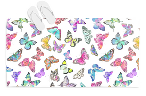 Couture Butterflies Beach Towel