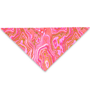 Hot Pink & Gold Geode Pet Bandana