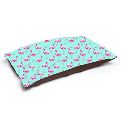 Aqua Flamingos Pet Bed