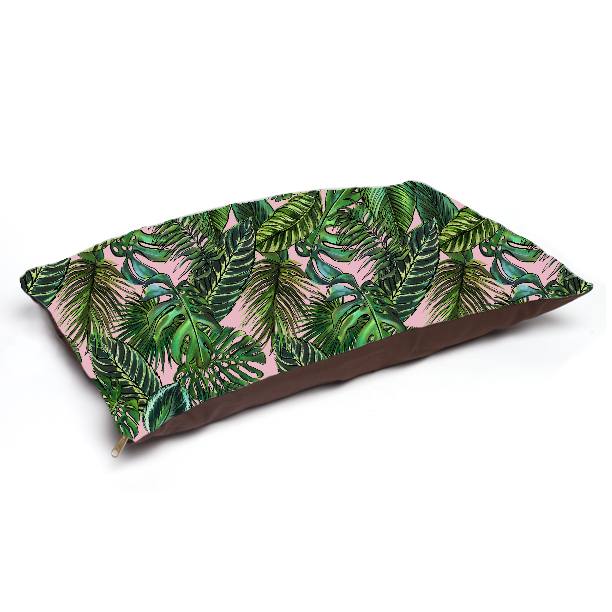 Palm Leaf Blush Pet Bed