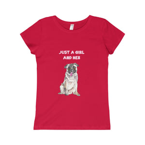 Just A Girl & Her PUG Girls Princess Tee