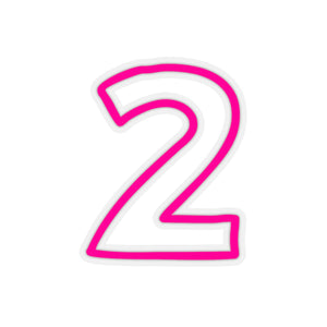 HOT PINK CAMP CAR STICKERS NUMBERS 0-9