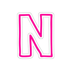 HOT PINK CAMP CAR STICKERS LETTERS M-T