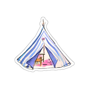 GIRLY GLAMPING CAMP CAR STICKER