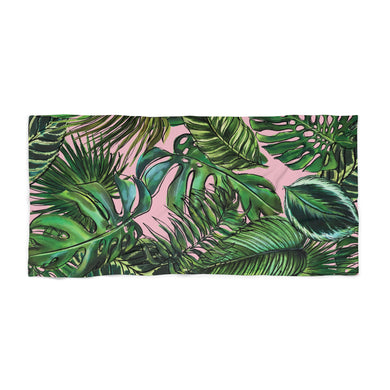 Palm Leaf Blush Beach Towel