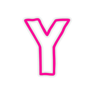 HOT PINK CAMP CAR STICKERS LETTERS U-Z