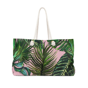 Palm Leaf Blush Beach & Pool Tote Bag