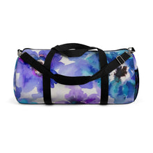 Blue & Purple Watercolor Anemones Duffle Bag