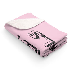 Happy Girls are the Prettiest Girls Fleece Sherpa Blanket
