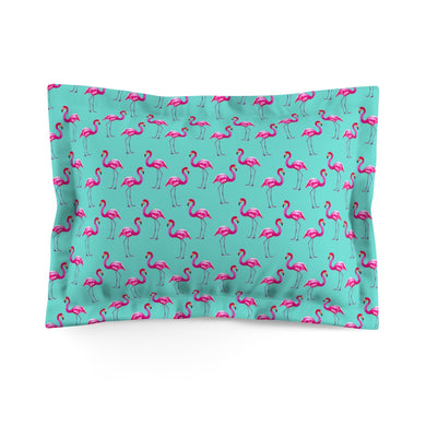 Aqua Flamingos Everyday Pillow Sham