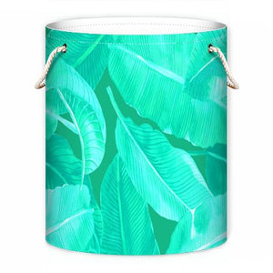 ELECTRIC PALMS DRAWSTRING LAUNDRY & STORAGE BIN