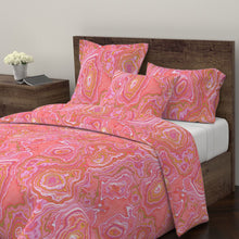 Hot Pink & Gold Geode LUXE Duvet Cover