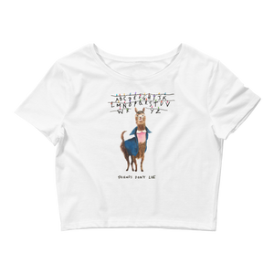 11 Llama Women's Fitted Crop Tee