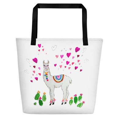 All Love Llama Beach Bag