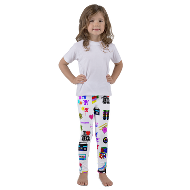80's Jam Small All Over Pattern Kid's Leggings
