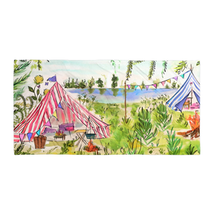 Glamping Out Beach/Bath Towel