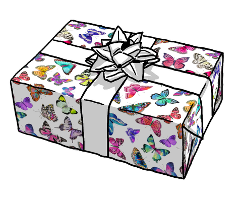 Couture Butterflies Gift Wrap Roll