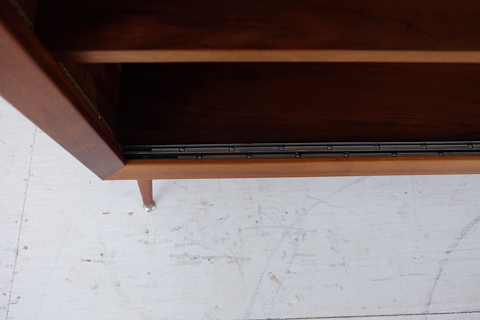 Handmade Mid Century Walnut Hutch Repurposed Bookcase Shelves