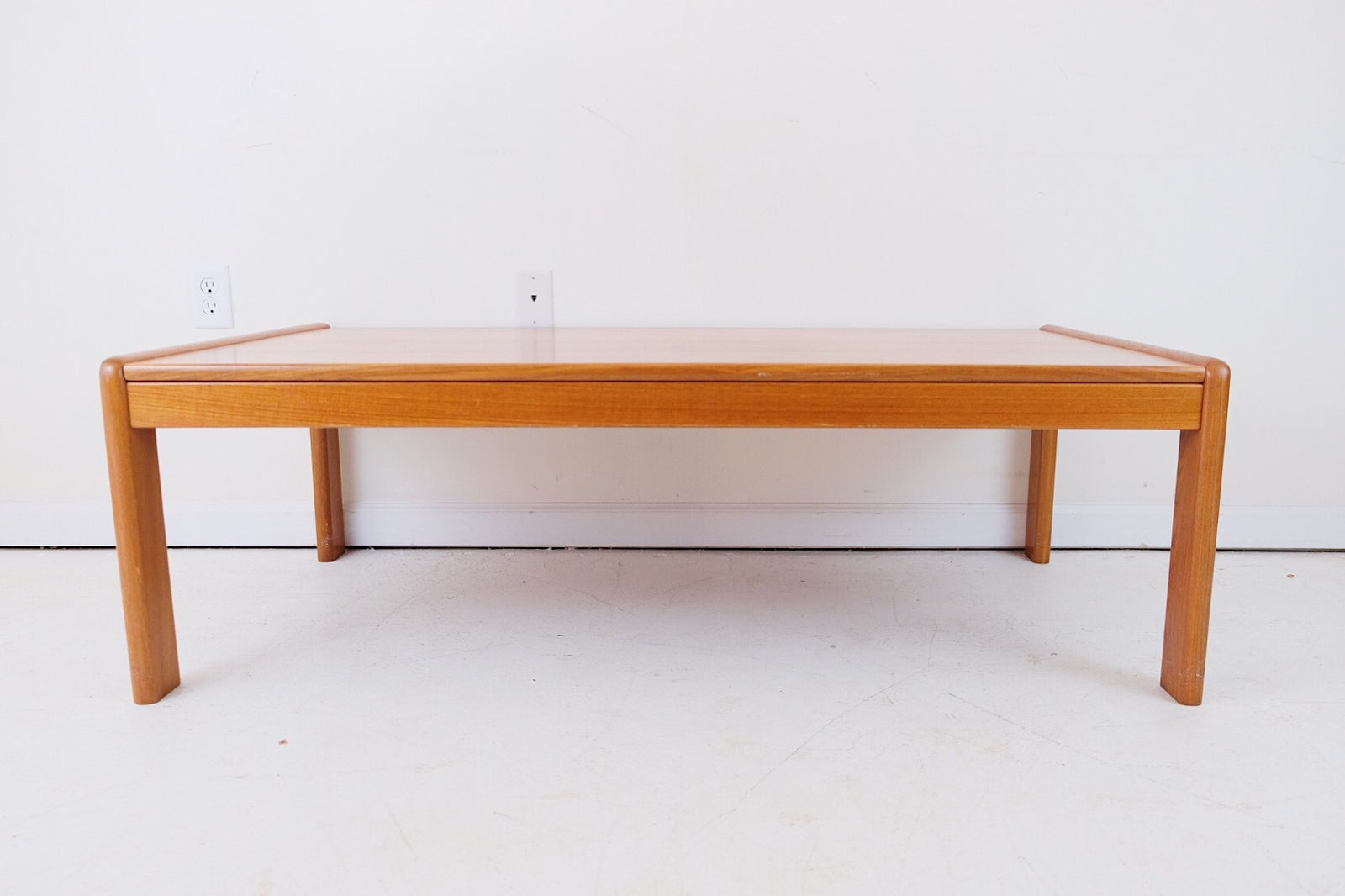 Danish Solid Teak Large Coffee Table