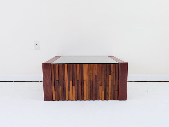 Beautiful Percival Lafer Square Brutalist Coffee Table Mid Century Modern