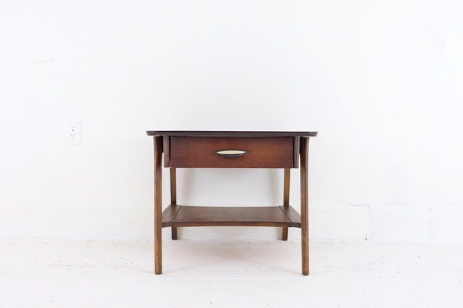 Mid Century Modern Side Table with Small Drawer Lovely Legs