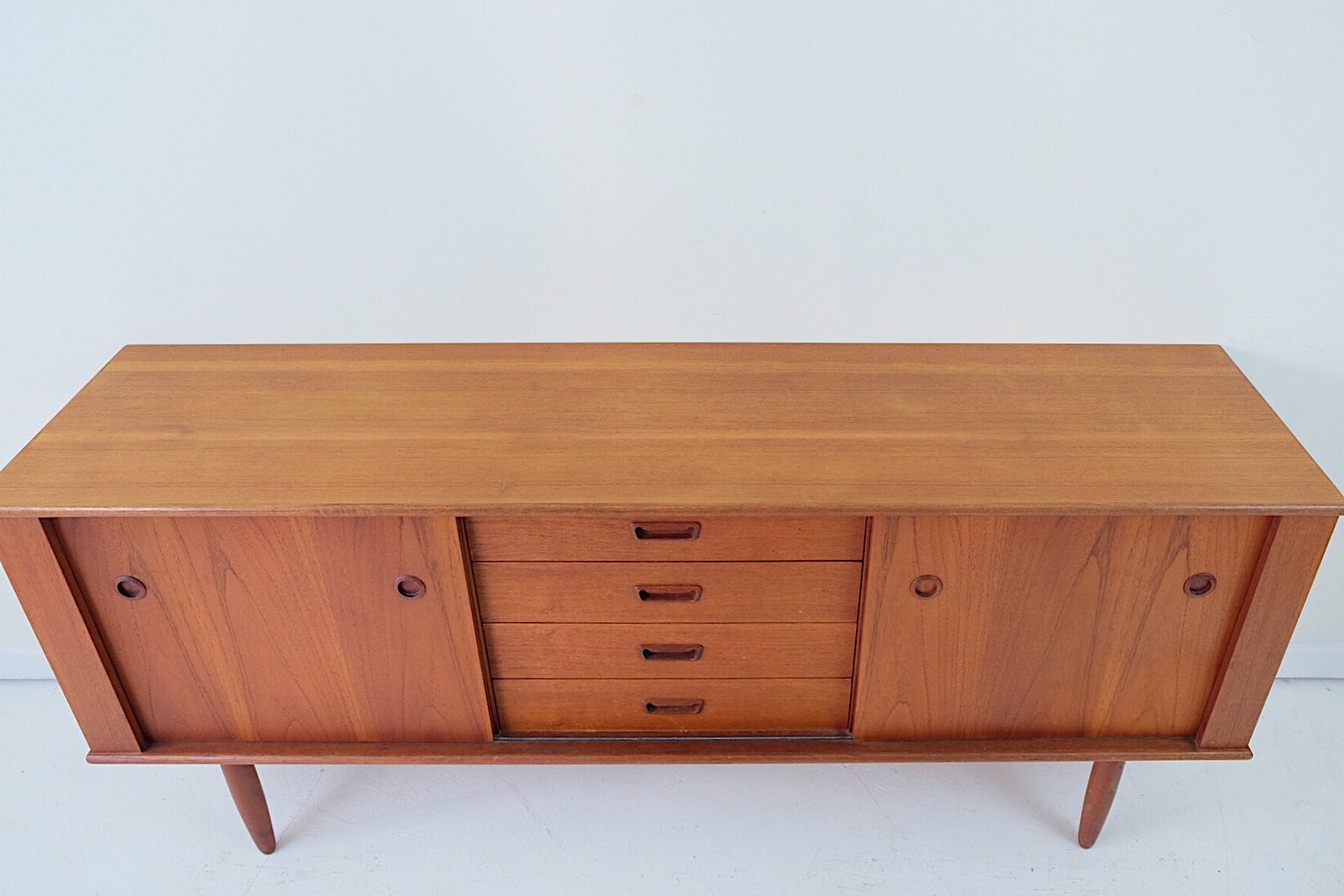 Danish Style Credenza : Danish modern teak sideboard credenza buffet cabinet in the style