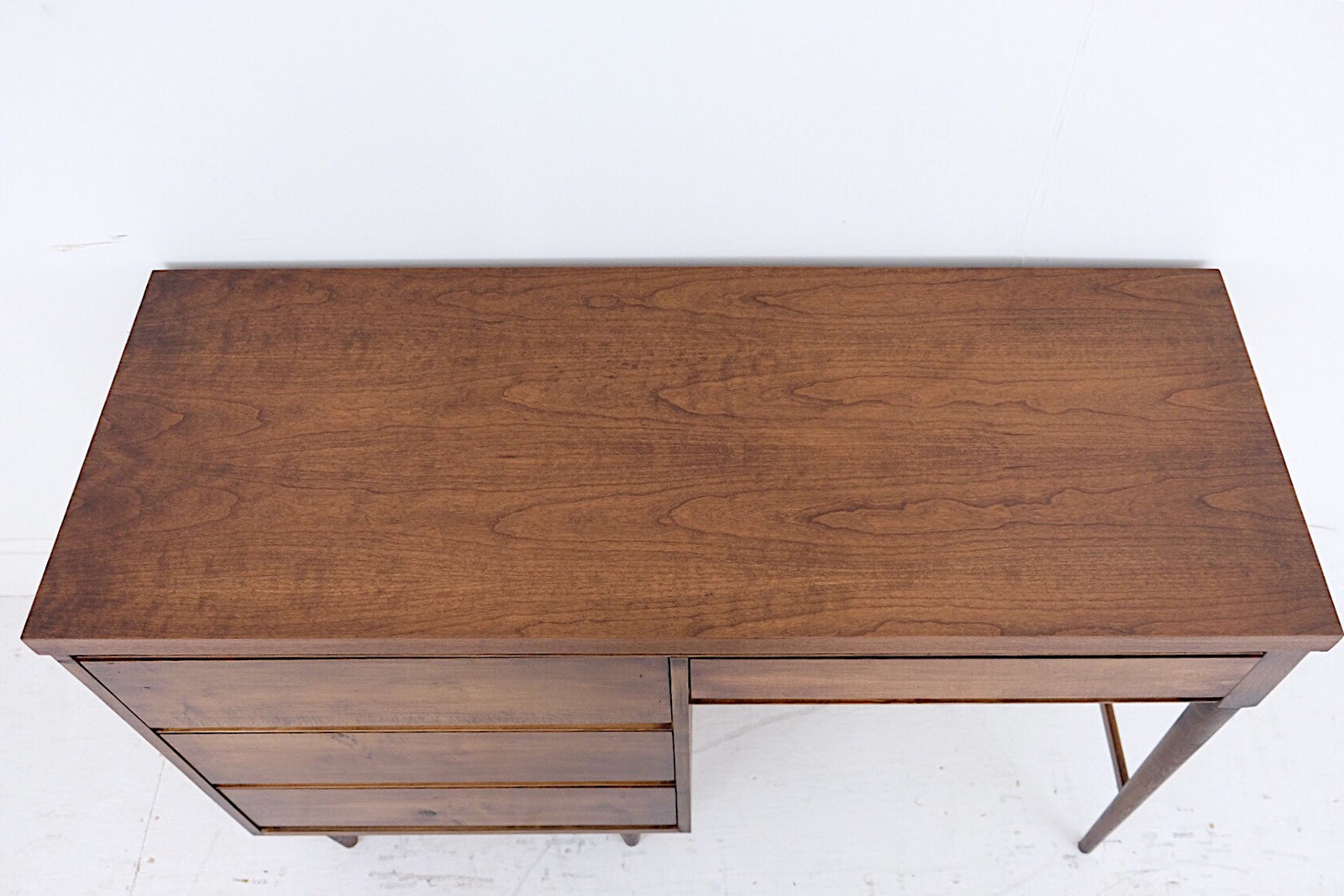 Mid Century Modern Desk Finished On All Sides New